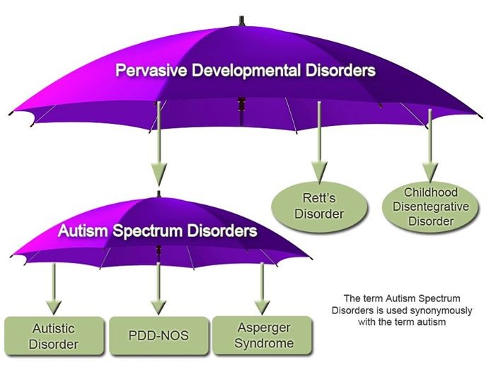 There are five Autism Spectrum Disorders